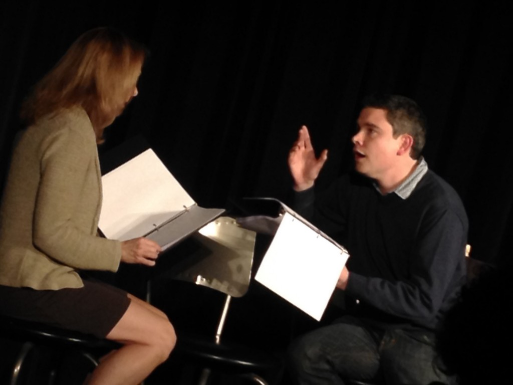 "Paul in a reading of ""Strong Force"" at NEWvember 2014"